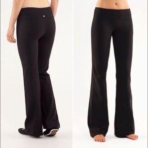 LULULEMON Astro Fold Over Waist Pants Black 4